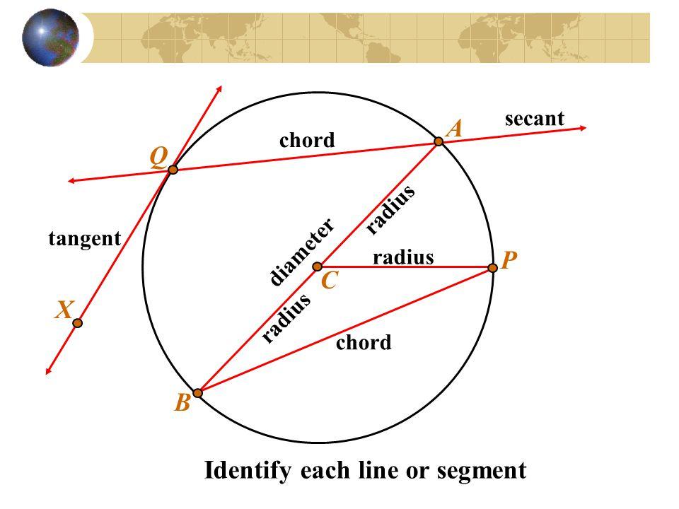 Identify each line or segment