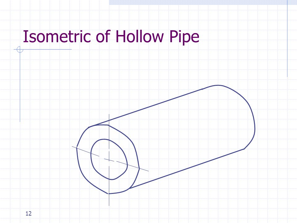 Isometric of Hollow Pipe