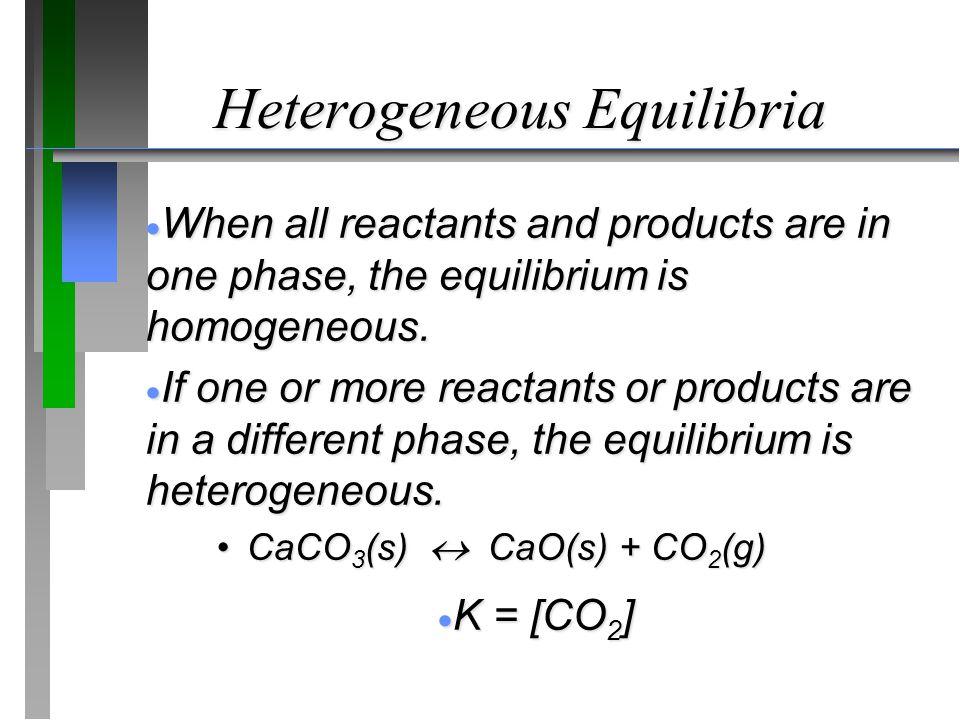 Heterogeneous Equilibria
