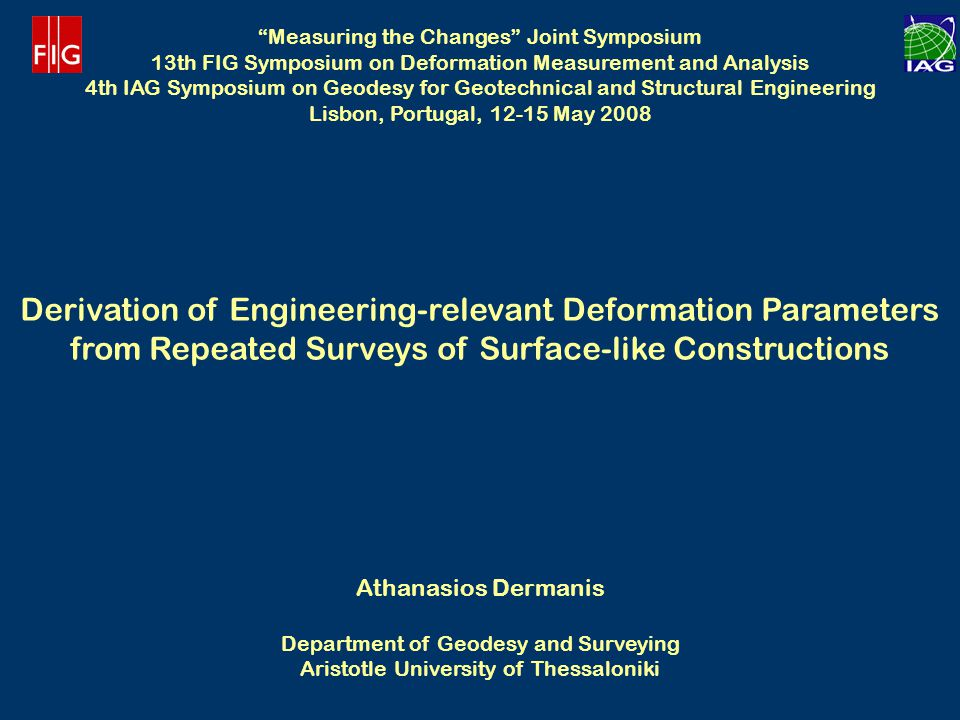 Derivation of Engineering-relevant Deformation Parameters
