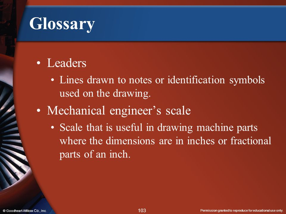 Glossary Leaders Mechanical engineer's scale