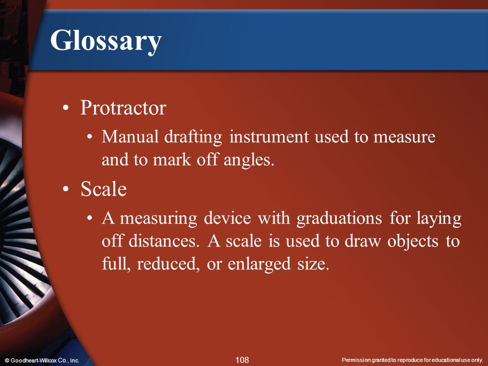 Glossary Protractor Scale