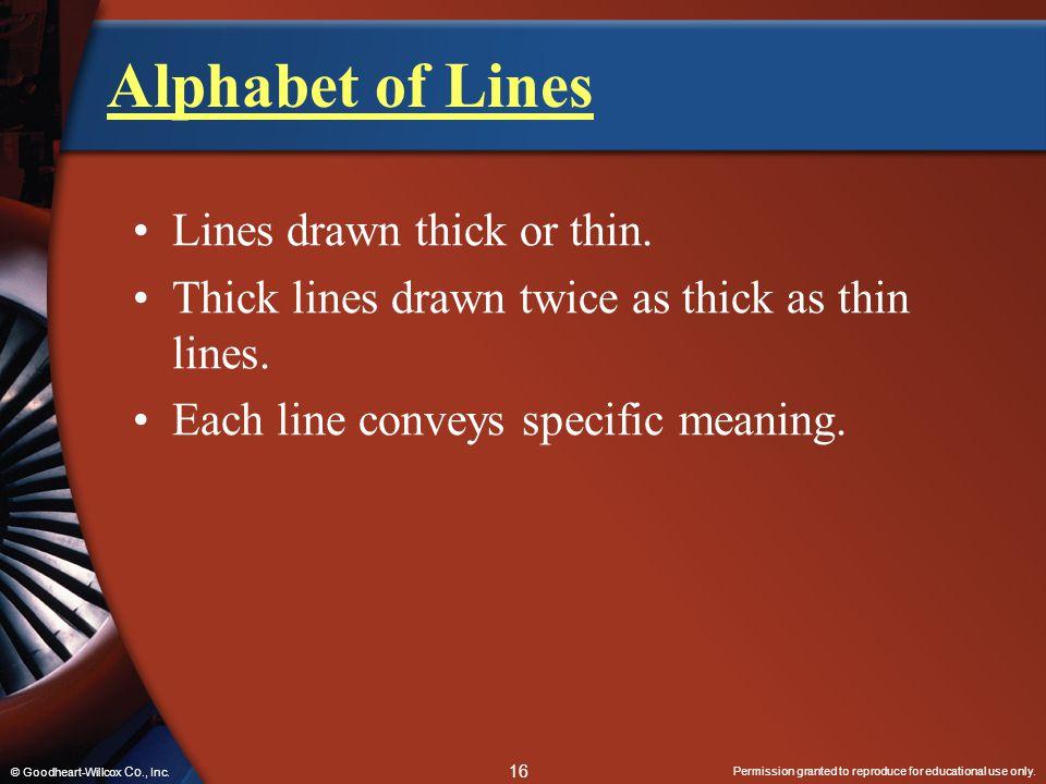 Alphabet of Lines Lines drawn thick or thin.