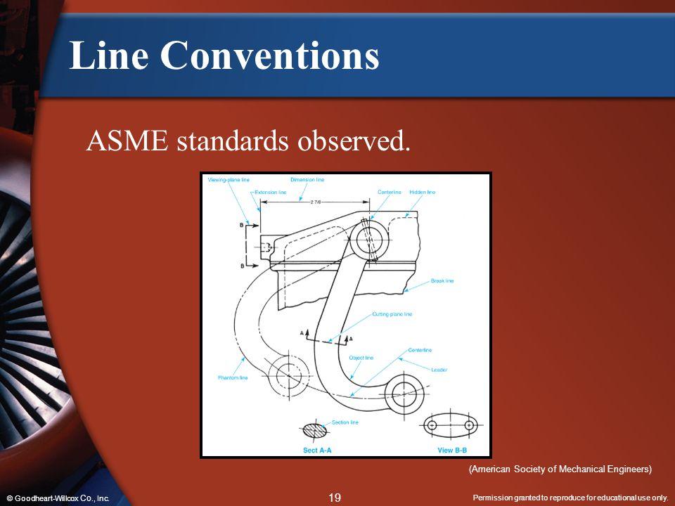 Line Conventions ASME standards observed.