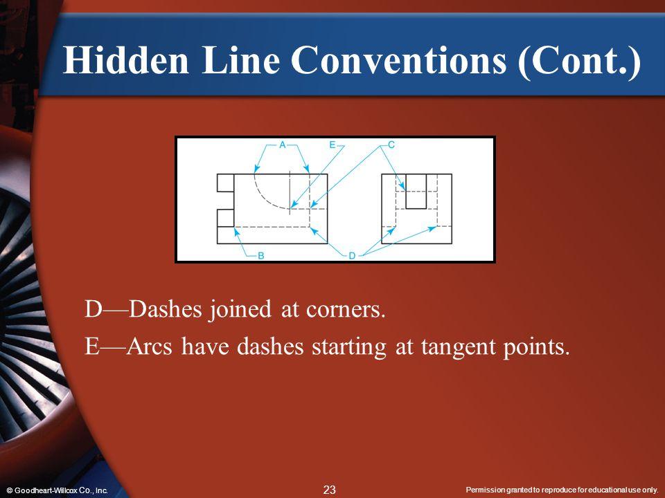 Hidden Line Conventions (Cont.)