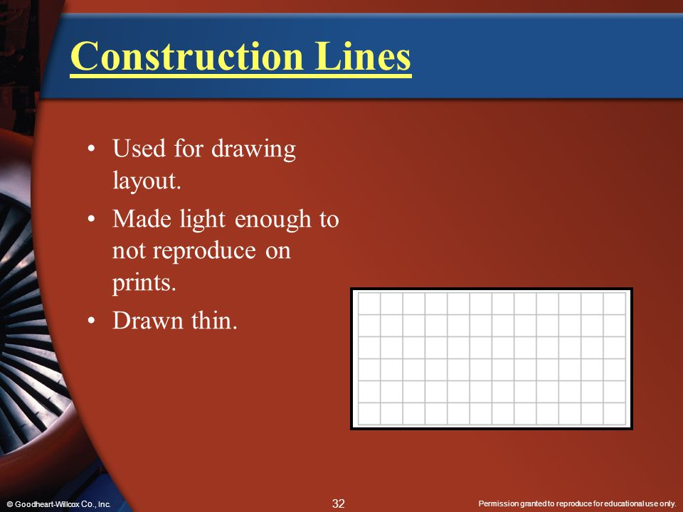 Construction Lines Used for drawing layout.