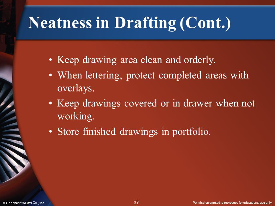 Neatness in Drafting (Cont.)