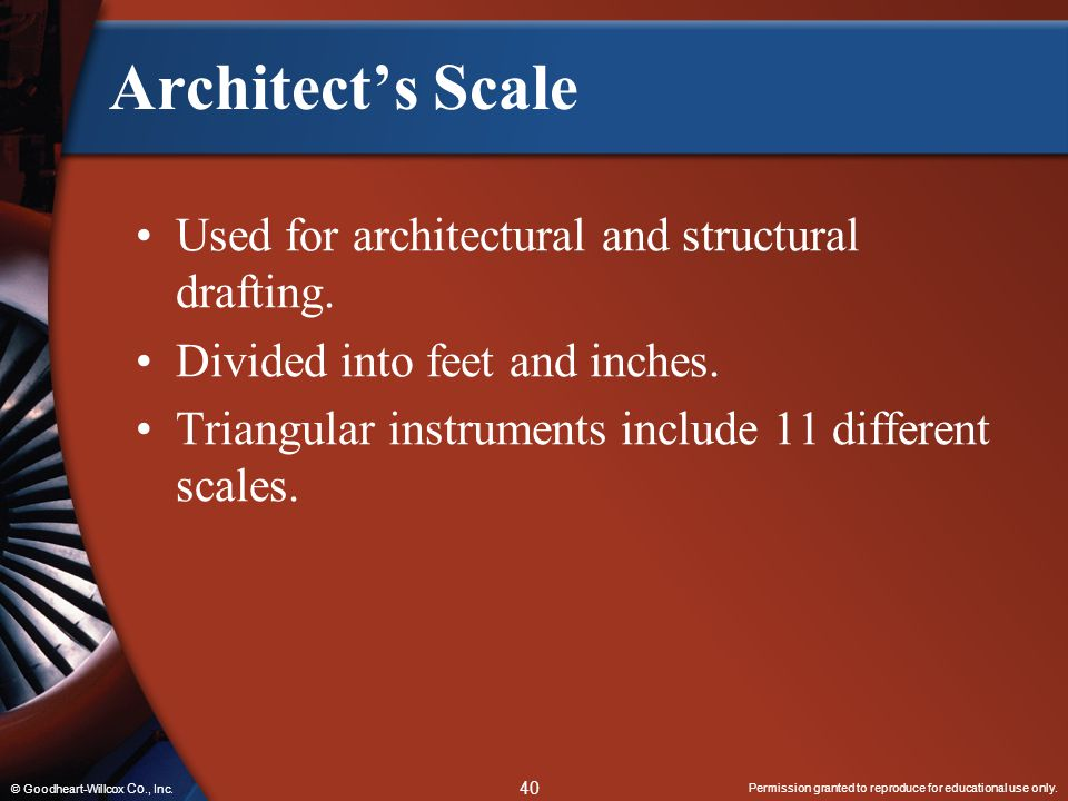 Architect's Scale Used for architectural and structural drafting.
