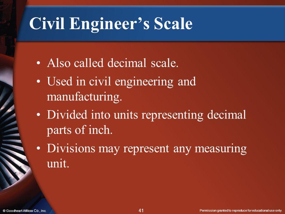 Civil Engineer's Scale