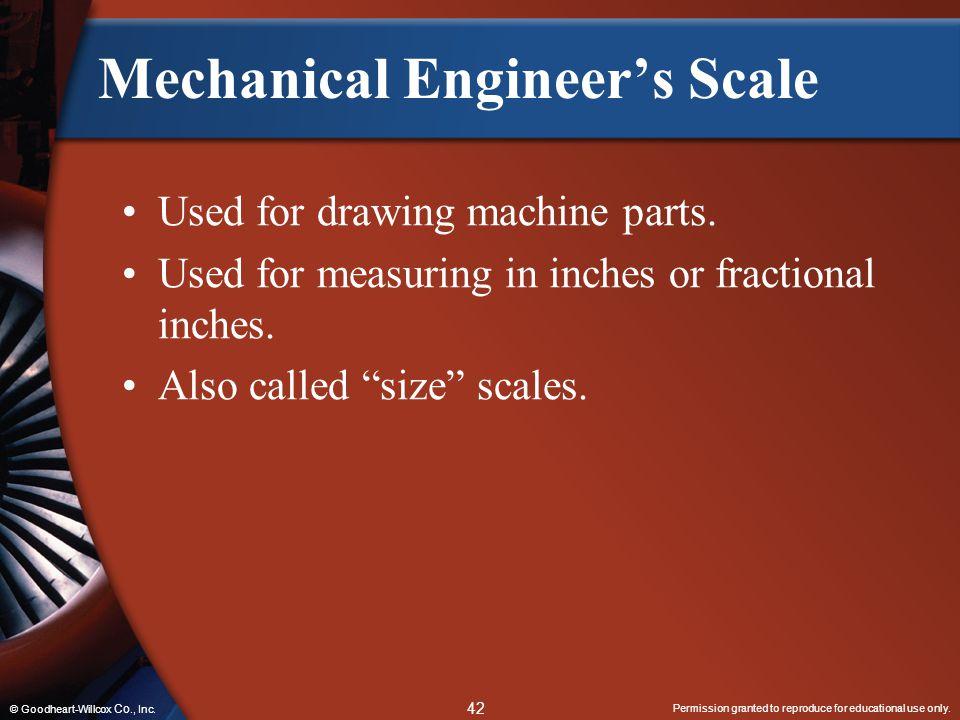 Mechanical Engineer's Scale