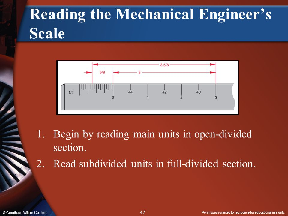 Reading the Mechanical Engineer's Scale