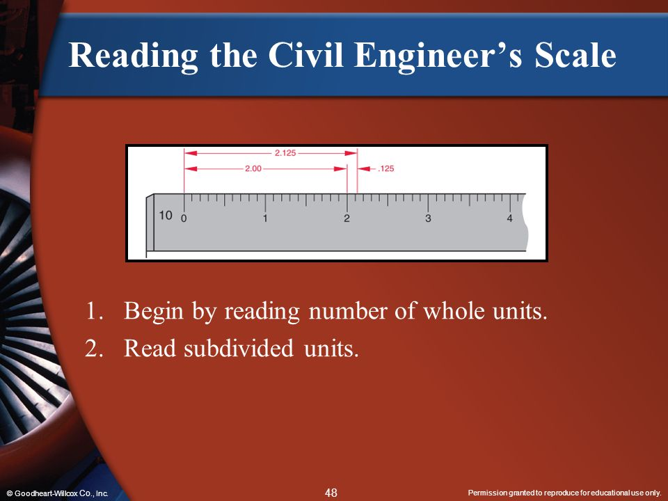 Reading the Civil Engineer's Scale