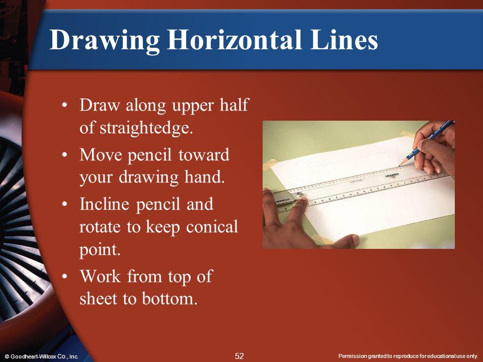 Drawing Horizontal Lines