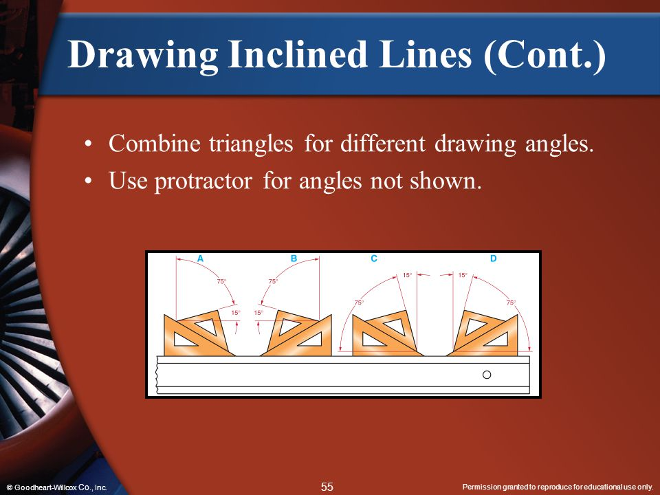 Drawing Inclined Lines (Cont.)