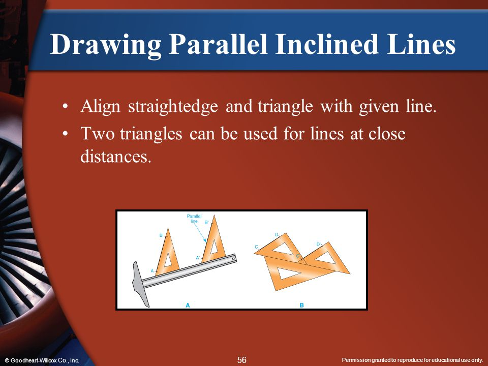 Drawing Parallel Inclined Lines