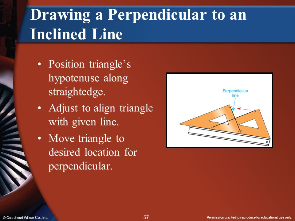 Drawing a Perpendicular to an Inclined Line