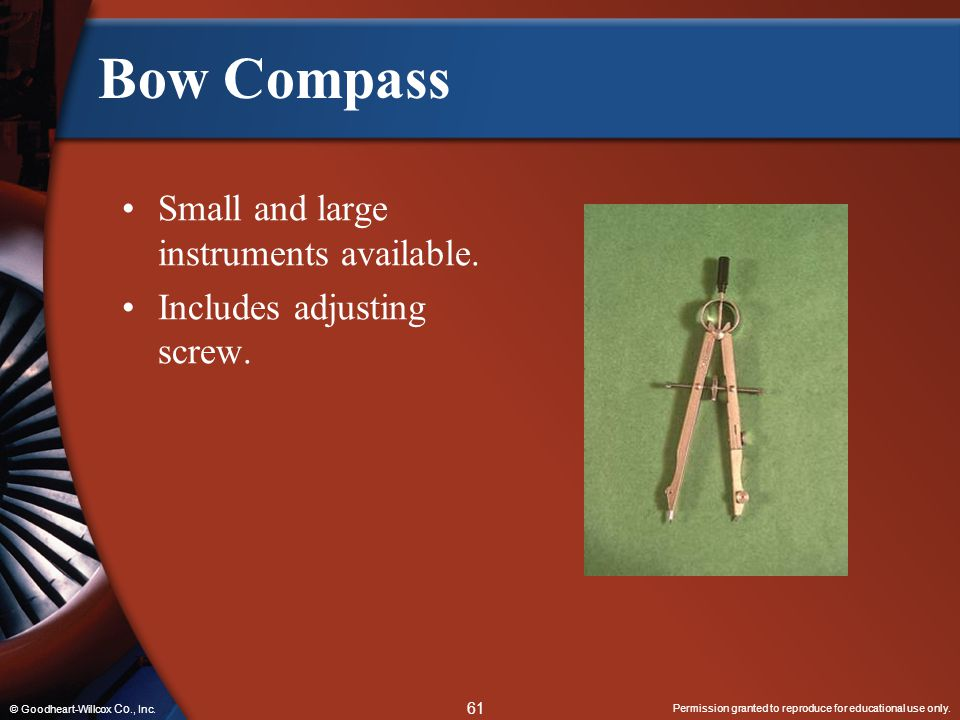Bow Compass Small and large instruments available.