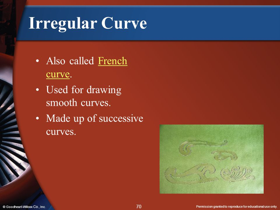 Irregular Curve Also called French curve.