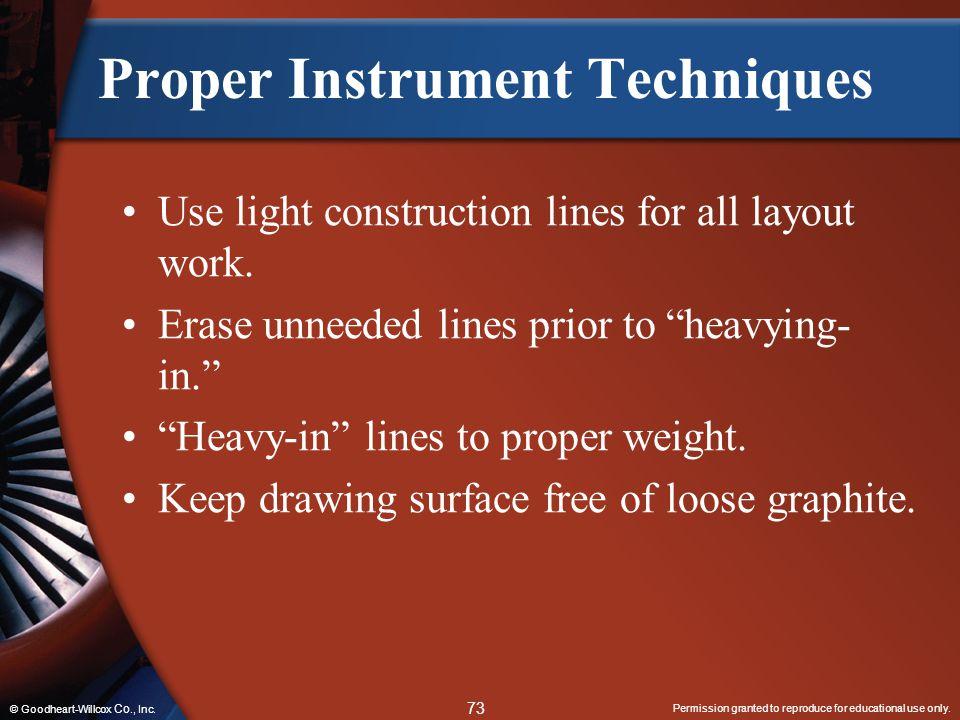 Proper Instrument Techniques