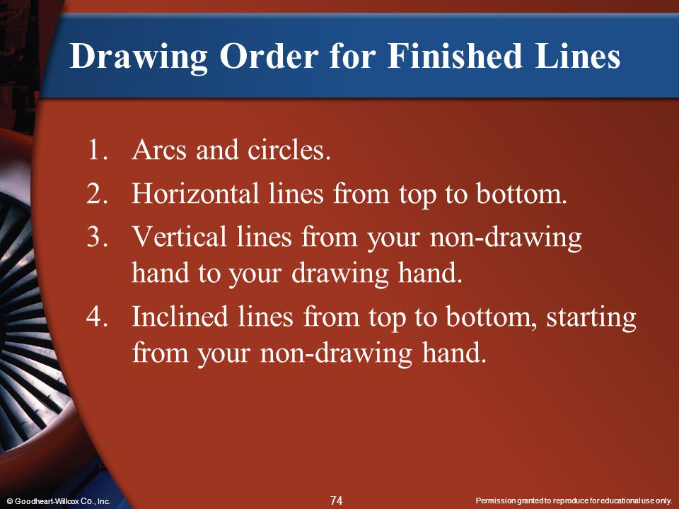 Drawing Order for Finished Lines