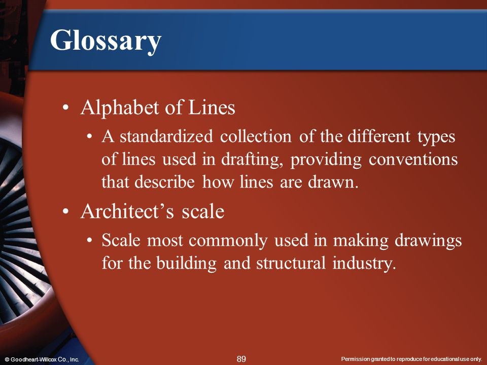 Glossary Alphabet of Lines Architect's scale