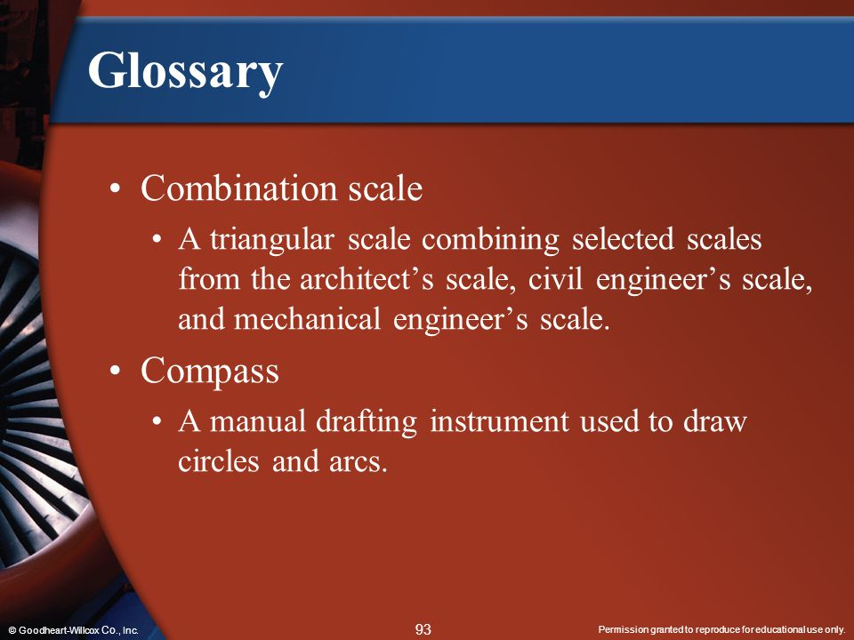 Glossary Combination scale Compass