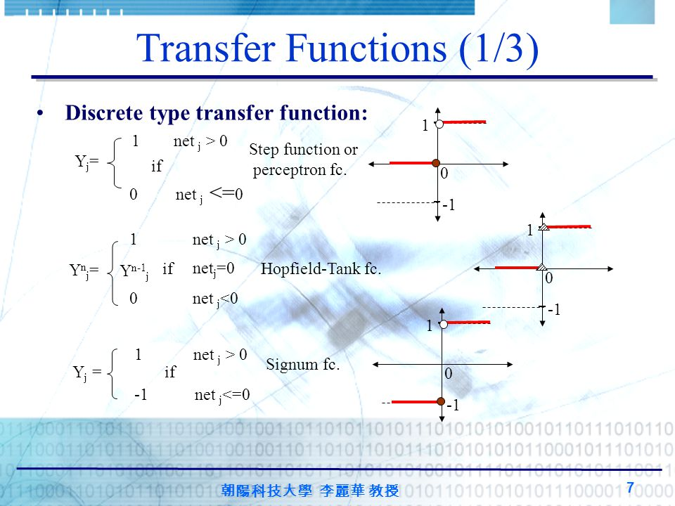 Transfer Functions (1/3)