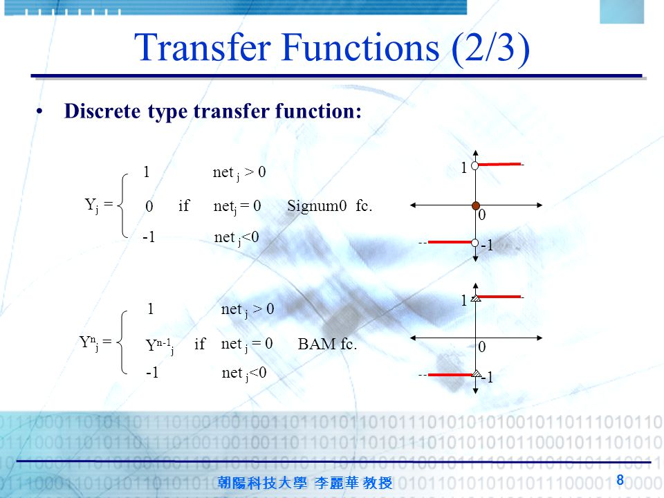 Transfer Functions (2/3)
