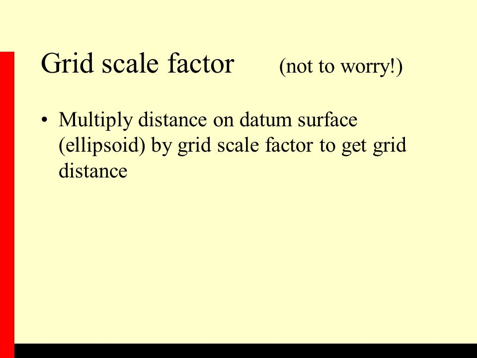 Grid scale factor (not to worry!)