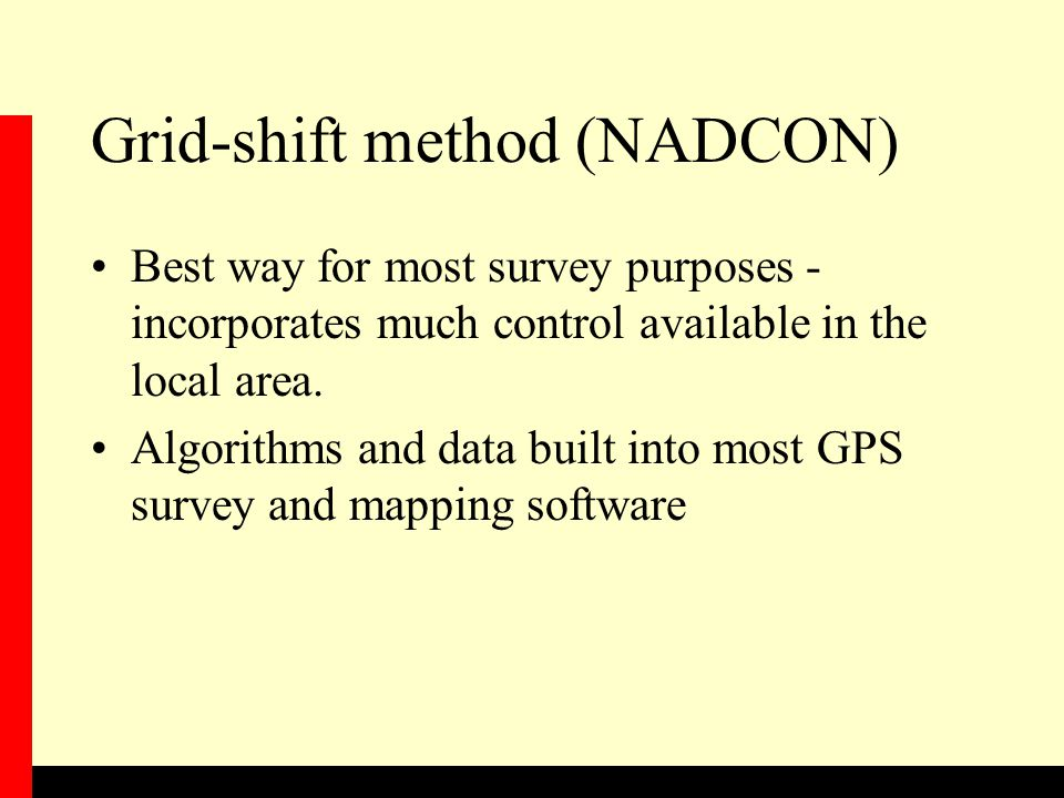Grid-shift method (NADCON)