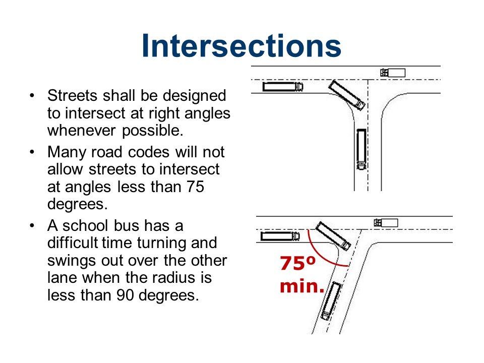 Road Design Civil Engineering and Architecture. Unit 3 – Lesson 3.4 – Site Considerations. Intersections.