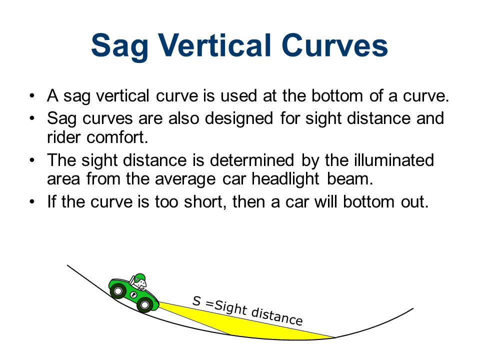 Road Design Civil Engineering and Architecture. Unit 3 – Lesson 3.4 – Site Considerations. Sag Vertical Curves.