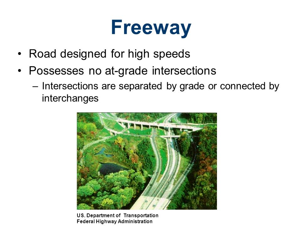 Freeway Road designed for high speeds