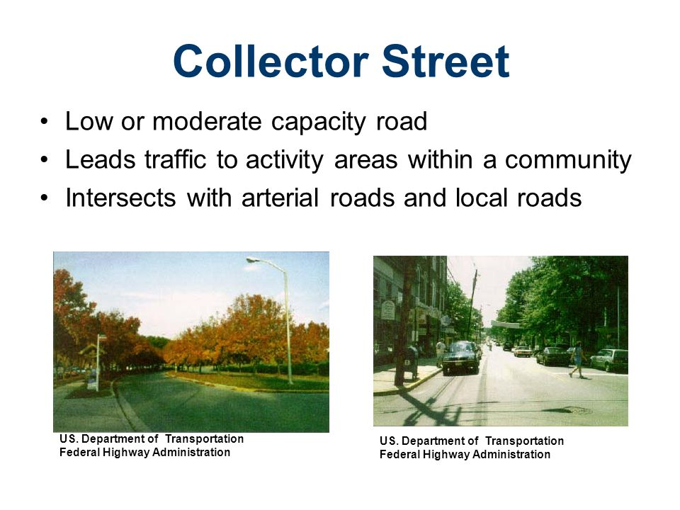 Collector Street Low or moderate capacity road