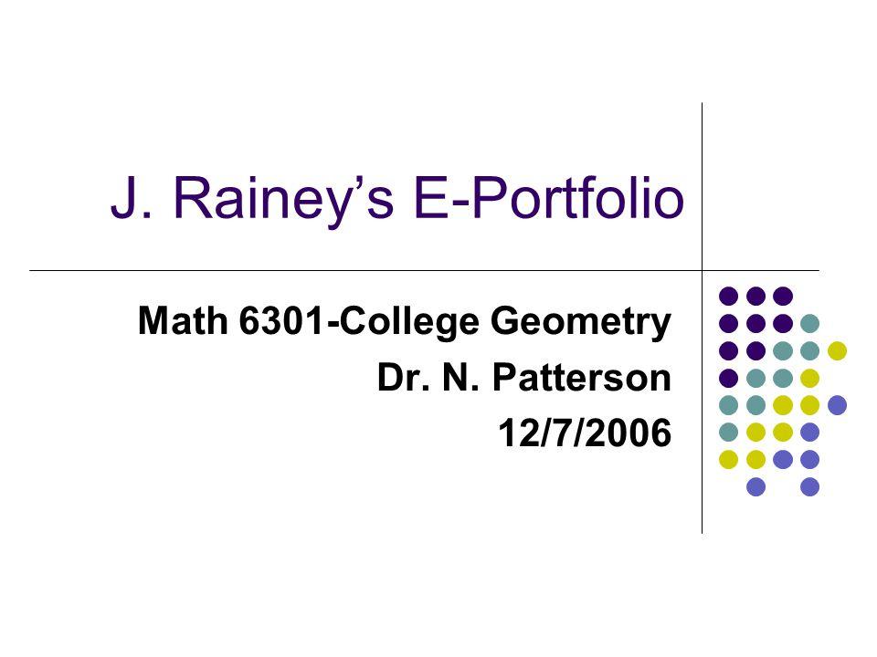 J. Rainey's E-Portfolio