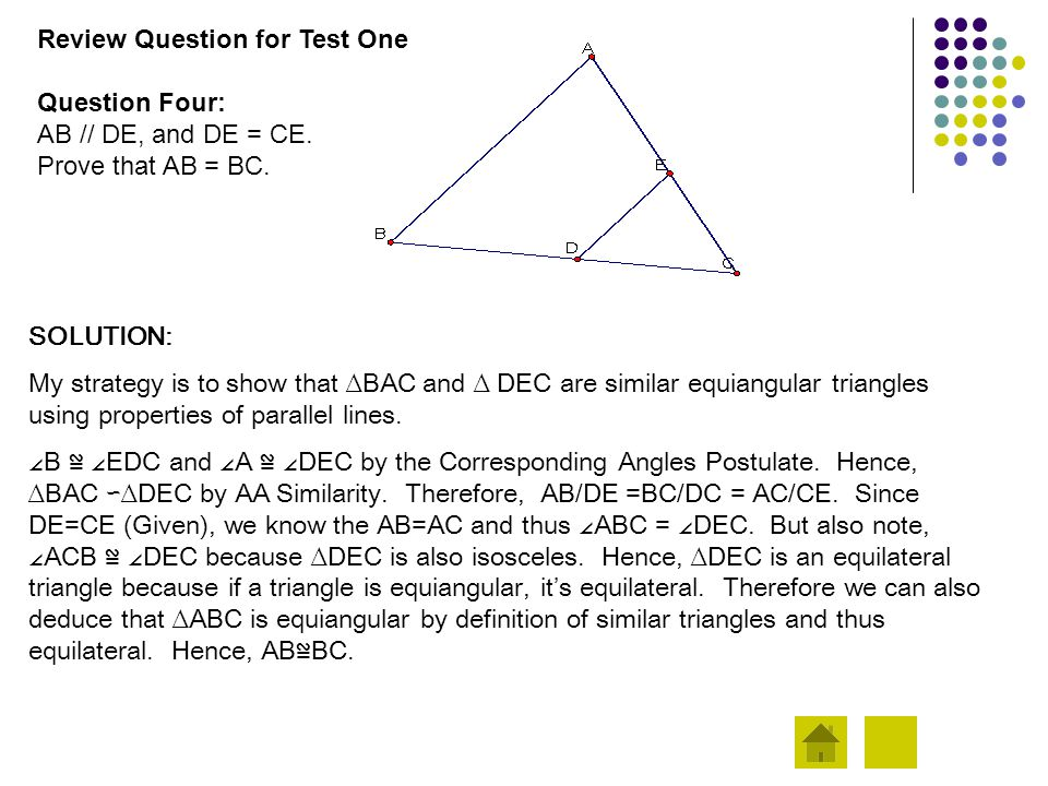 Review Question for Test One