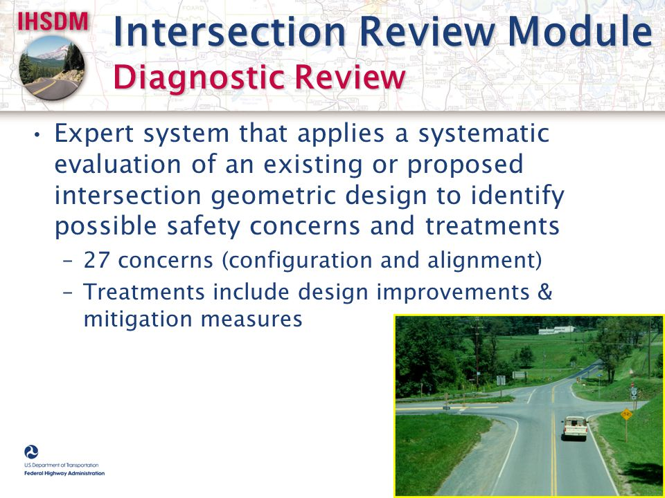 Intersection Review Module Diagnostic Review