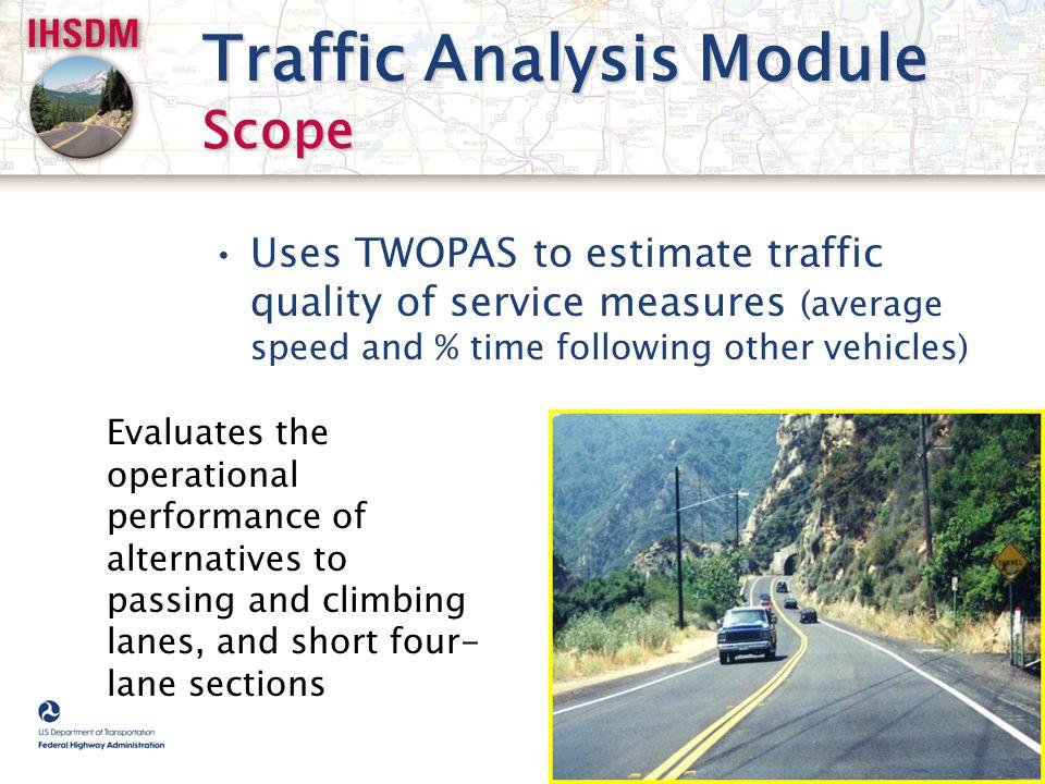 Traffic Analysis Module Scope