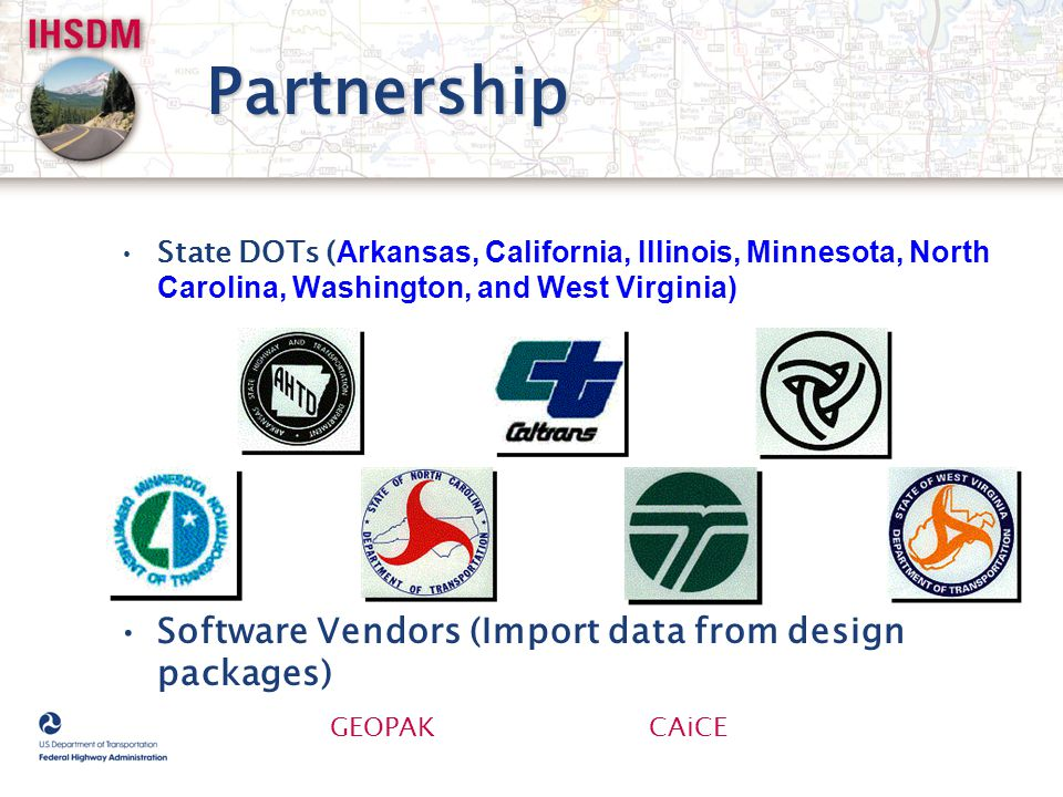 Partnership Software Vendors (Import data from design packages)