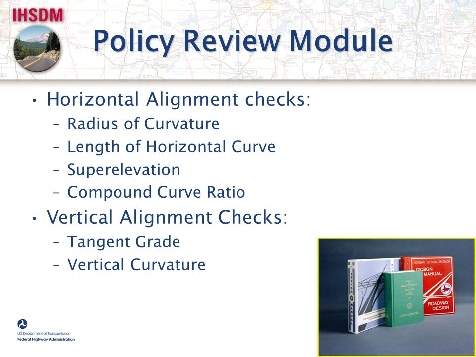 Policy Review Module Horizontal Alignment checks: