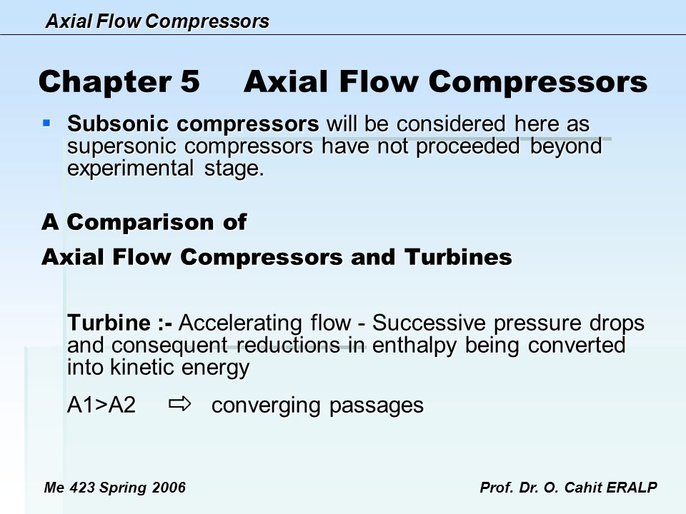Chapter 5 Axial Flow Compressors