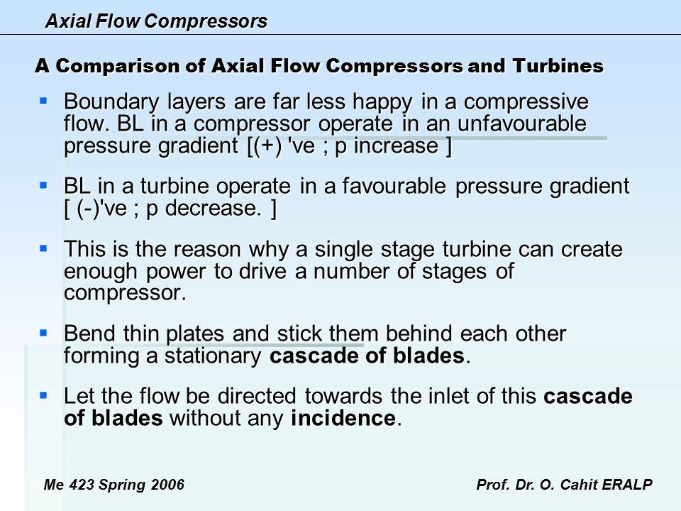A Comparison of Axial Flow Compressors and Turbines