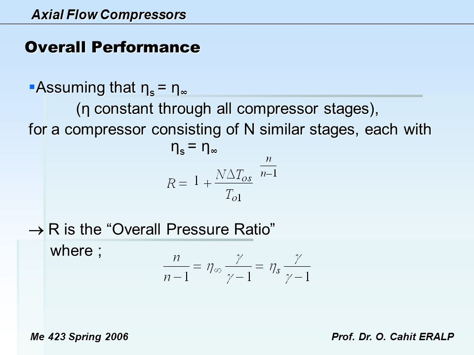 (η constant through all compressor stages),