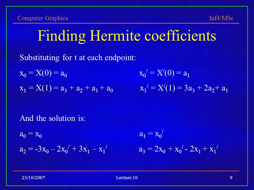 Finding Hermite coefficients