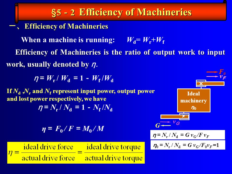 §5-2 Efficiency of Machineries