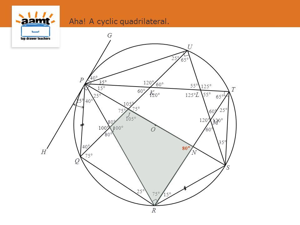 Aha! A cyclic quadrilateral.