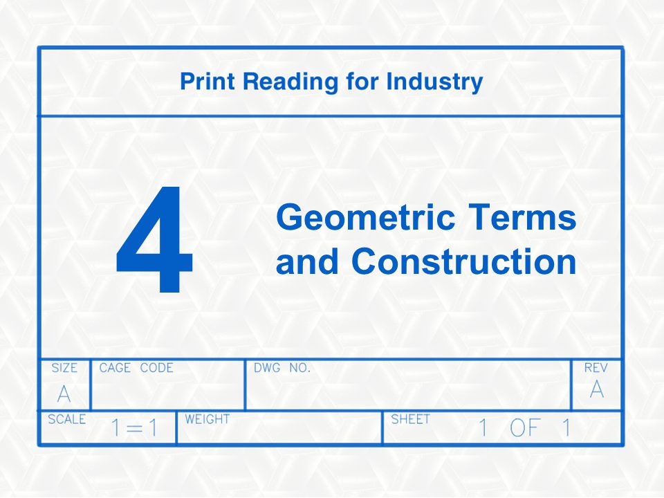 Geometric Terms and Construction