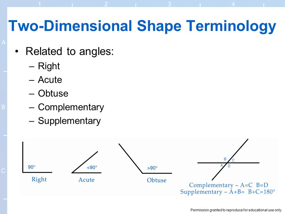 Two-Dimensional Shape Terminology