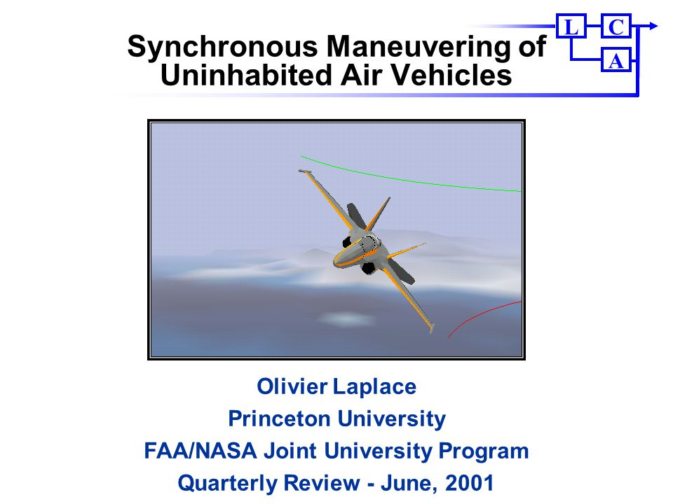 Synchronous Maneuvering of Uninhabited Air Vehicles
