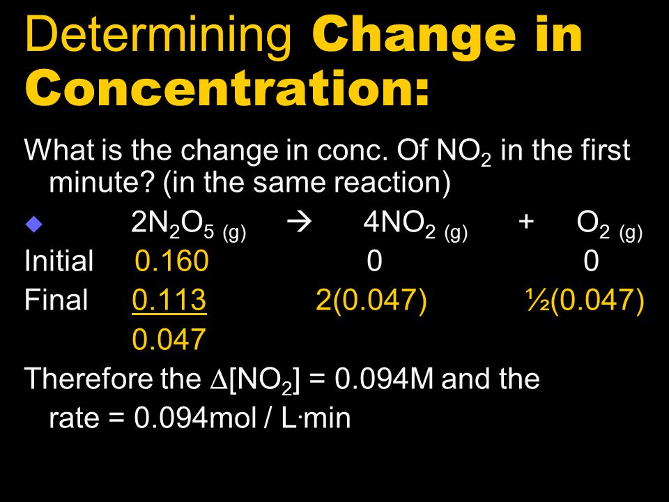 Determining Change in Concentration: